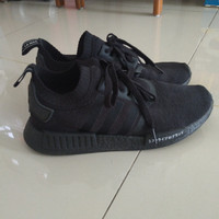 "Adidas NMD R1 Triple Black Japan Original RARE"" (langka)"