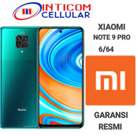 xiaomi redmi note 9 pro 6/64 new resmi - Biru