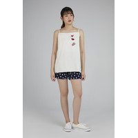 RAMUNE -AFT -Del Square Patch Top( Ivory)