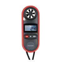 Anemometer Digital Mini Genggam Pengukur Kecepatan Angin Suhu Dengan L