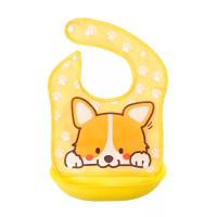 Baby Bib / Slabber Silikon Plastik / Celemek Makan Bayi Anti Air