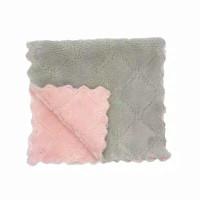Towel Lap Microfiber Jumbo 25CMX25CM / Serbet Kain Lap Halus Lembut - Abu-Pink