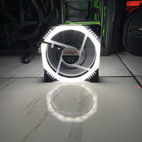 Fan Casing Mejec Andromeda L-03 12cm double LED RING segi 8/Mejec L03 - Putih