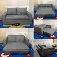 Sofa Bed Reklening Tgn Minimalis. TM - Biru