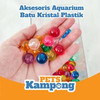 Batu Kristal Plastik warna warni aksesoris aquarium