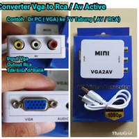 Converter Vga to RCA Pengubah Vga ke Rca Av Konektor Vga to Av RCA