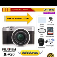 fujifilm XA20/X-A20 kit XC16 - 50mm mirrorless kamera - paket 32GB