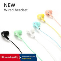 HEADSET STEREO MACARON HANDSFREE EXTRA BASS EARPHONE U19