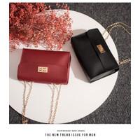TrioGallery TG1176 - Tas selempang tali rantai / tas kunci Import - Merah