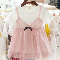 [DRESS/BAJU ANAK] Lace Ribbon Dress