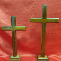 salib duduk kristen kayu ukuran S