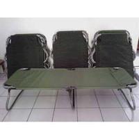 velbed / ranjang /tempat tidur lipat besi model TNI