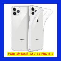 iPhone 12 - 12 Pro 6.1 - Clear Soft Case Transparan Casing Cover Jelly