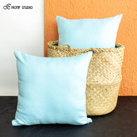 SARUNG BANTAL SOFA KURSI POLOS KATUN 45x45 45 X 45 LIGHT BLUE CELESTE