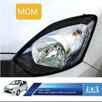 Garnish list lampu headlamp depan hitam blacktivo JSL Ayla