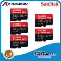 Sandisk Extreme Pro A2 Microsd 32gb 64gb 128gb 256gb 512gb 1tb
