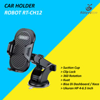 Robot RT-CH12 Car Holder Mobil Universal 360 Rotate For HP Smartphone
