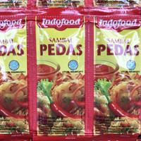 saos sambal indofood pedas sachet renteng renceng 12pcs - 12