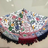 Taplak Meja Bulat Batik Cap