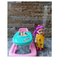 FU1128 BABY WALKER CUTE MINI / BABY WALKER BONEKA mainan anak edukasi