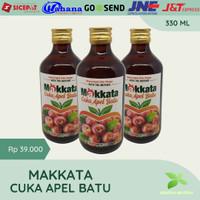 Cuka Apel Batu Makkata 330 ML Natural Apple Cider Vinegar Asli