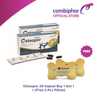Osteopor 30 kapsul Buy 1 Get 1 + Free 2 Pcs Pillow