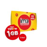 IM3 OOREDOO STARTER PACK PRABAYAR - Yellow 1GB, 3 Hari
