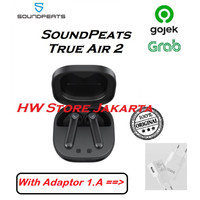 SoundPeats TrueAir 2 TWS Wireless Earphone Earbuds APTX Bluetooth 5.1 - Air 2, Hitam