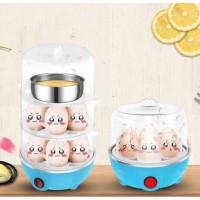 Egg Boiler Electric - Alat Perebus Telur 3 Tingkat - Alat Pengukus