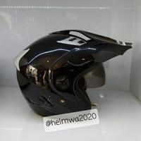 helm half face MDS double visor polos BK