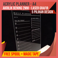 ACRYLIC PLANNER - A4 - Daily Planner