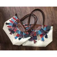 Longchamp Le Pliage Collier Massai Tote Bag Large Long Handle LLH