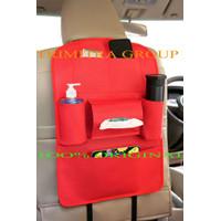 [BLACK] AUTO CAR SEAT ORGANIZER / ORGANISER MOBIL - Merah