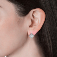 Bella Diamond Earrings - Anting Crystal Swarovski by Her Jewellery