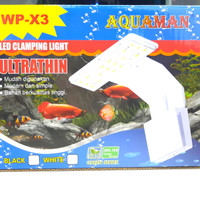 Lampu led aquarium aquascape jepit AQUAMAN WP X3