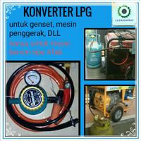 konverter gas LPG untuk genset kompresor dll (paket komplit)