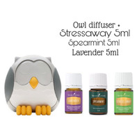 OWL DIFFUSER YOUNG LIVING LAVENDER + SPEARMINT + STRESSAWAY