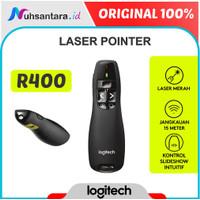 Laser Pointer Logitech R400 Wireless Presenter Untuk Presentasi Ori