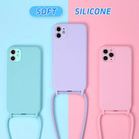 CASE CASING COVER SOFT COLOR STRAP + TALI IPHONE 11 PRO MAX
