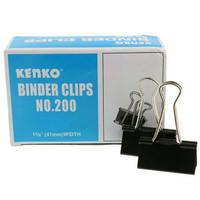 KLIP KERTAS / BINDER CLIP KENKO 200 LKM ISI 12