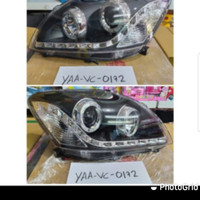Headlamp Toyota Vios 2007-2012 LED bar projektor angel eyes