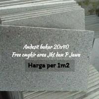 Batu alam Cirebon Batu andesit bakar Free Ongkir area Jkt dan P.Jawa