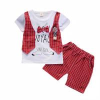 Setelan Bayi-Anak Laki-Laki Degan Rompi Tempel - Merah, 100