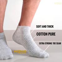 Kaos kaki pria wanita pendek bahan katun untuk santai kerja olahraga