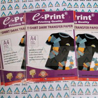 T-Shirt Dark Transfer Paper EPrint- Kertas Print Sablon Hitam Gelap A4