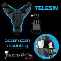 HELMET CHIN MOUNT STRAP ACTION CAM | TELESIN | GO PRO + J HOOK