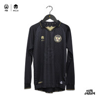 MILLS Timnas Indonesia Jersey Third Player Issue Long Sleeve 1025GR BL - Hitam, XS
