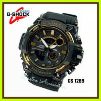 Jam Tangan Pria G SHOCK GS 1289 TERBARU - Hitam Gold