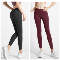 Legging Sport Wanita Big Size XL XXL Elastic Hip Lifting Sport Run Gym