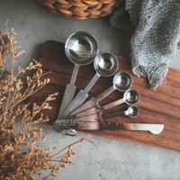 6in1 Set Measuring Spoons Stainless (Sendok Takar)